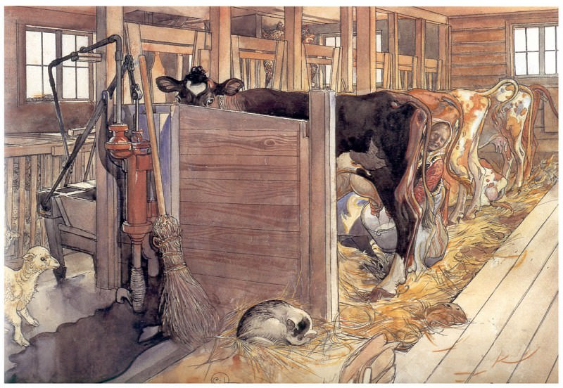 El establo 1904-06. Carl Larsson