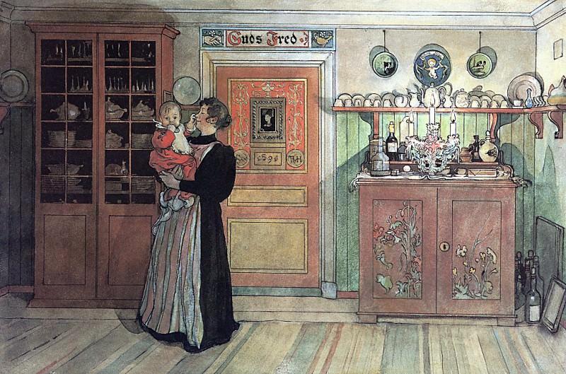 Between Xmas & New Year 1895. Carl Larsson