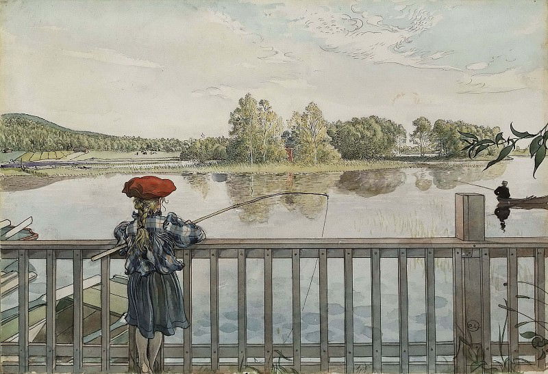 Lisbeth Angling. From A Home. Carl Larsson