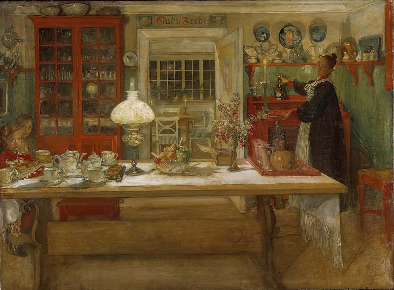 Getting Ready for a Game. Carl Larsson