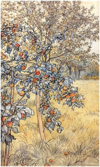 La recogida de las manzanas(detalle) 1904-06. Carl Larsson