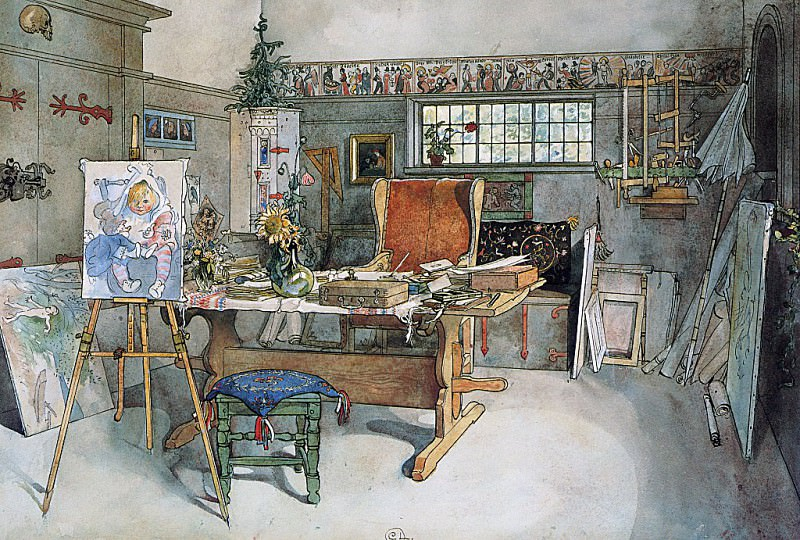 The Studio 1895. Carl Larsson