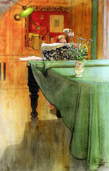 Brita Vid Pianot (Brita at the Piano) 1908. Carl Larsson