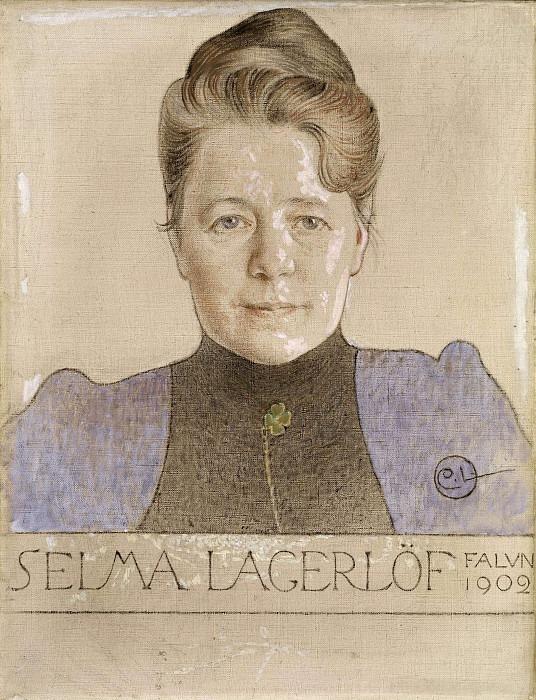 The Author Selma Lagerlöf. Carl Larsson