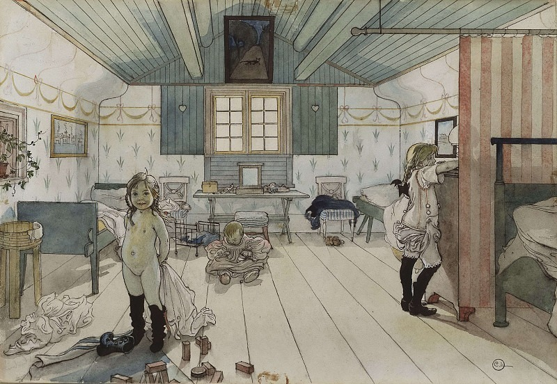 Mamma's and the Small Girls' Room. From A Home. Carl Larsson