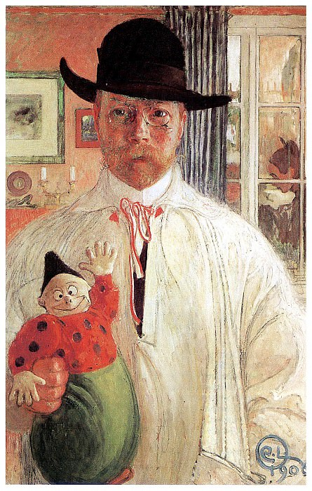 1906 Self-Recognition oil. Carl Larsson