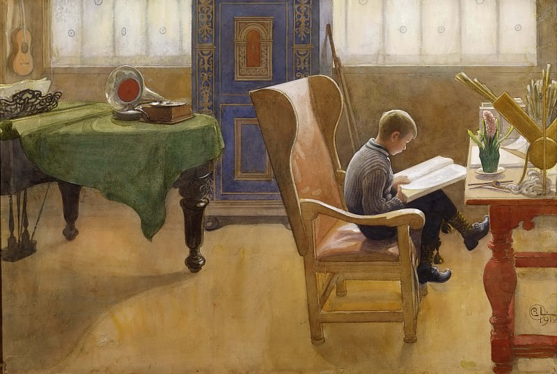 Esbjörn at the Study Corner. Carl Larsson