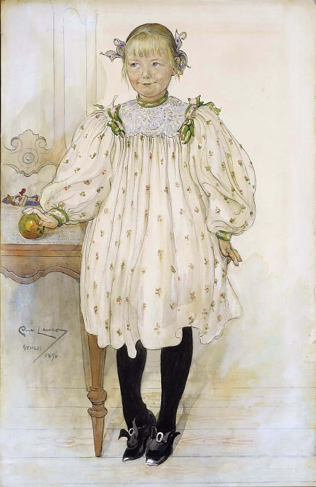 Martha Winslow as a Girl. Carl Larsson