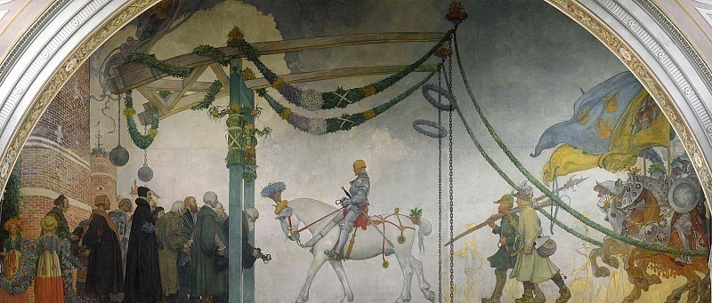 The Entry of King Gustav Vasa of Sweden into Stockholm, 1523. Carl Larsson