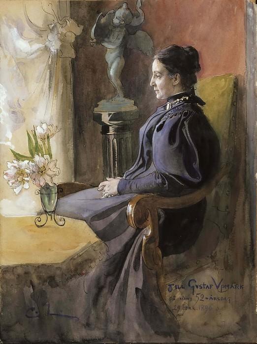 Ева Апмарк (1852-1944), урождённая Чилдстренд. Карл Улоф Ларссон
