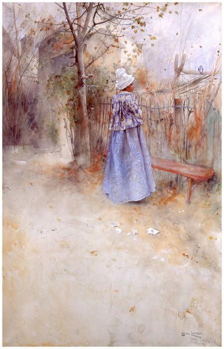 Otoсo watercolor 1884. Carl Larsson