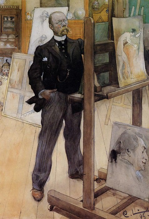 Self Portrait. Carl Larsson
