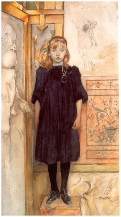 Suzanne Watercolour 1894. Carl Larsson