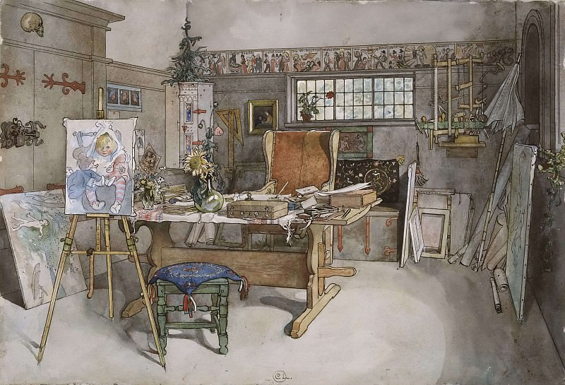 The Studio. From A Home. Carl Larsson