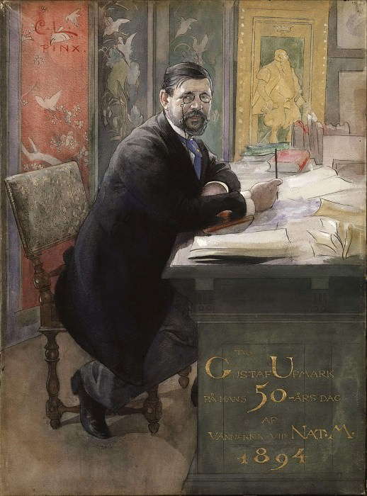 Gustaf Upmark, director of the Nationalmuseum. Carl Larsson