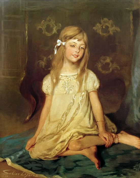 Monika, daughter of the artist. Sabine Lepsius