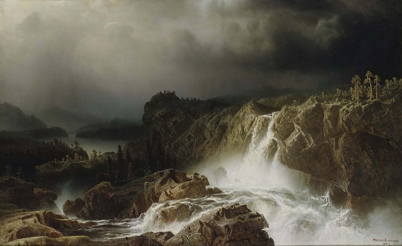 Rocky Landscape with Waterfall. Marcus Larson