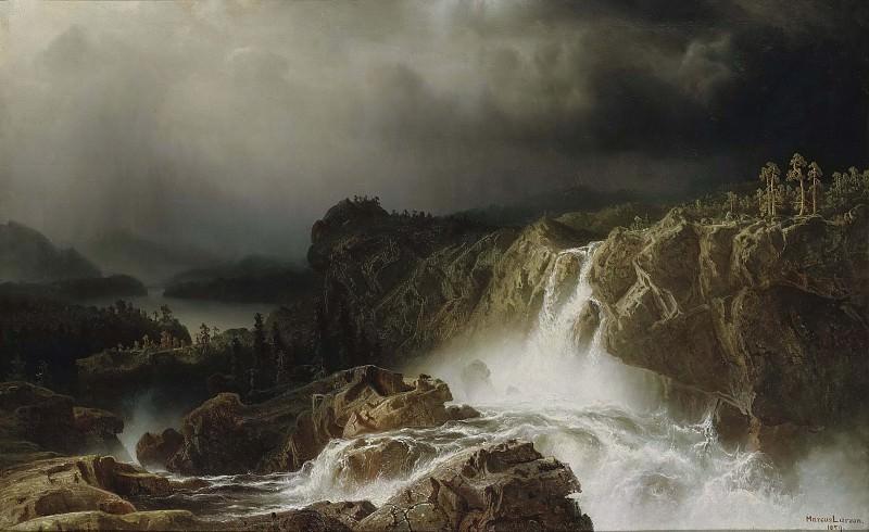 Скалистый пейзаж с водопадом. Маркус Ларсон