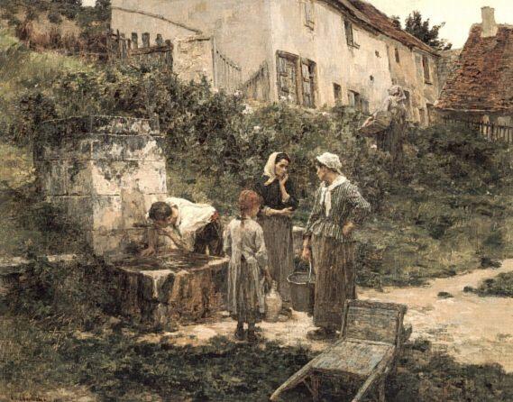 A la Fontaine. Leon Augustin Lhermitte