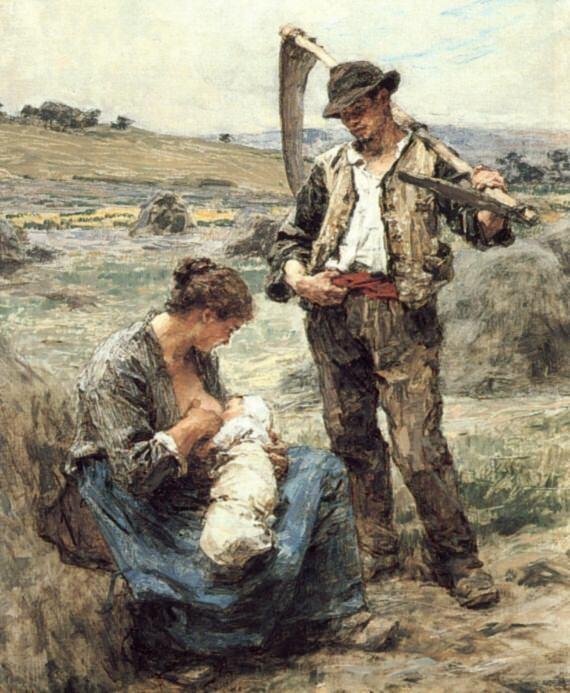 Maternite ou LHeureuse Famille. Leon Augustin Lhermitte