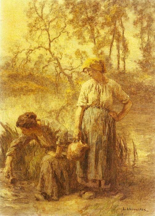 Девушки, набирающие воду. Леон-Огюстен Лермитт