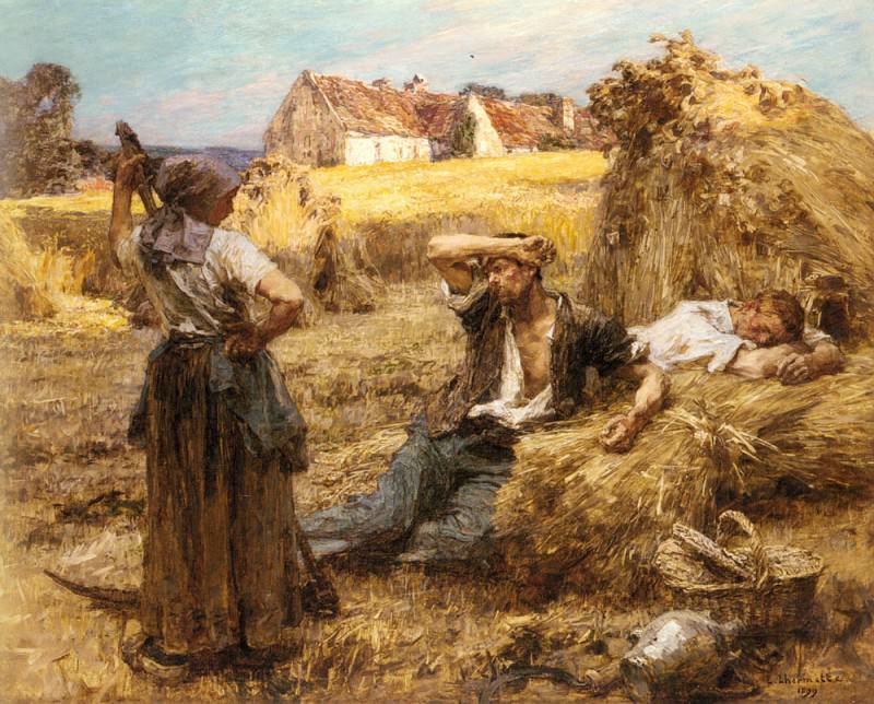 Le Reveil Du Faucheur. Leon Augustin Lhermitte
