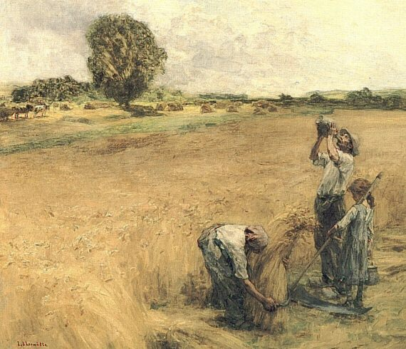 Moissonneur buvant a la gourde ou la Soif. Leon Augustin Lhermitte