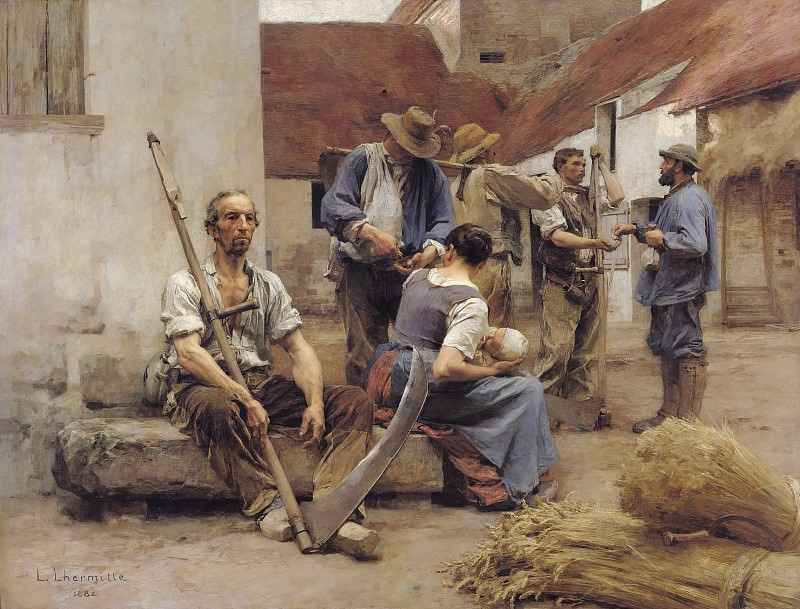 Paying the Harvesters. Leon Augustin Lhermitte