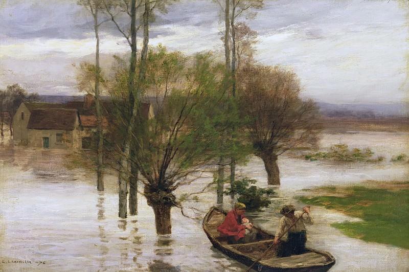 A Flood. Leon Augustin Lhermitte