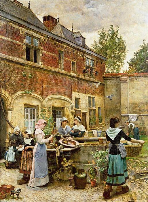 Alms Houses, Antwerp. William Logsdail