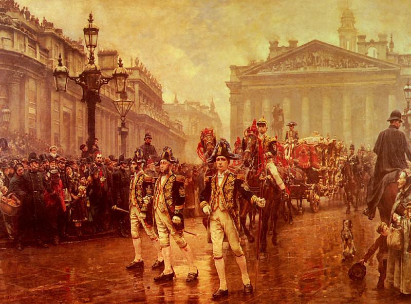 Sir James Whitehead's Procession. William Logsdail