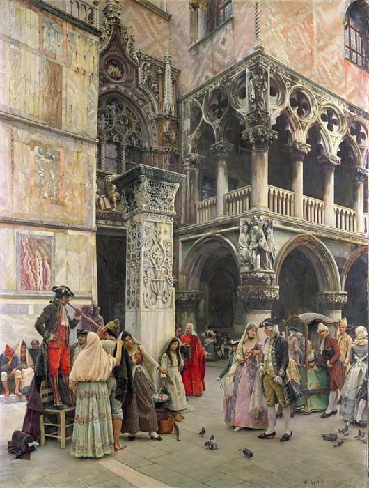 In the Piazzetta, Eighteenth Century. William Logsdail