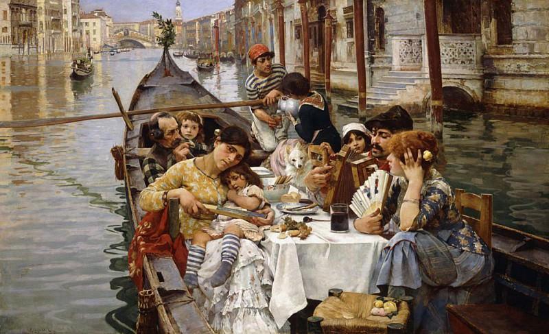 A Venetian al Fresco. William Logsdail