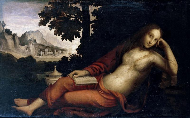 Кающаяся Мария Магдалина в пейзаже. Бернардино Луини