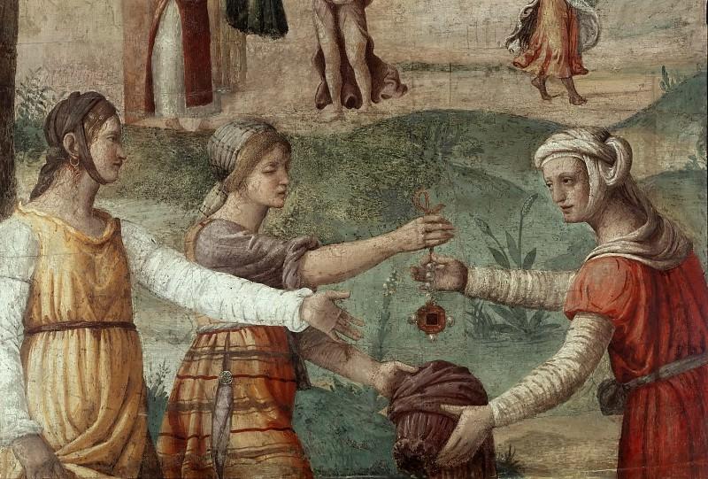 Еврейские женщины предлагают свои драгоценности для строительства скинии. Бернардино Луини