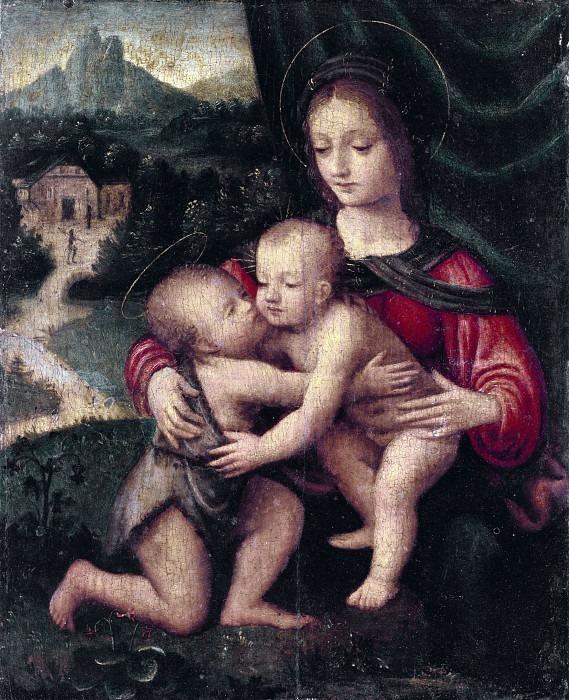 Мадонна с младенцем и Сан-Джованнино. Бернардино Луини
