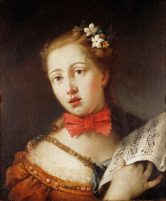 Portrait of a Young Singer. Alessandro Longhi