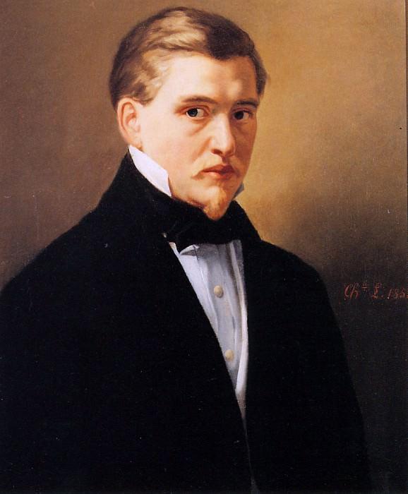 Selfportrait. Charles Henri Joseph Leickert