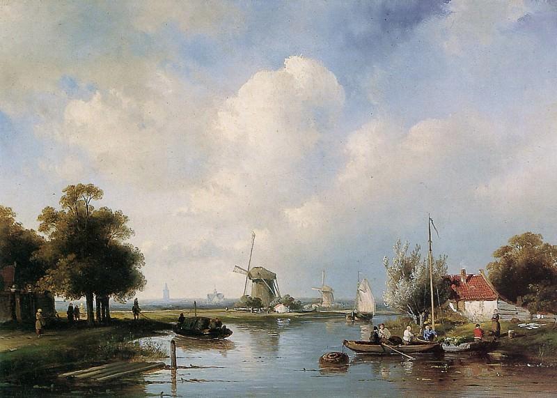 River view. Charles Henri Joseph Leickert