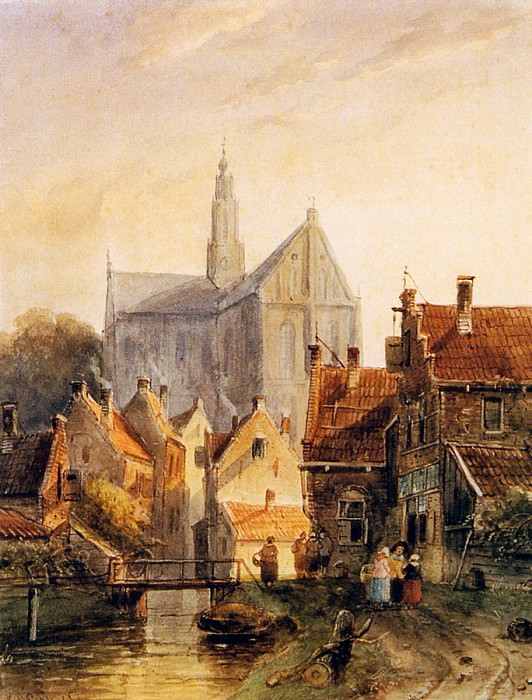 View Raaks in Haarlem. Charles Henri Joseph Leickert