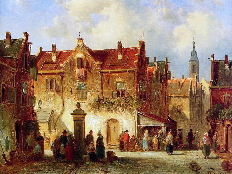 A market view. Charles Henri Joseph Leickert