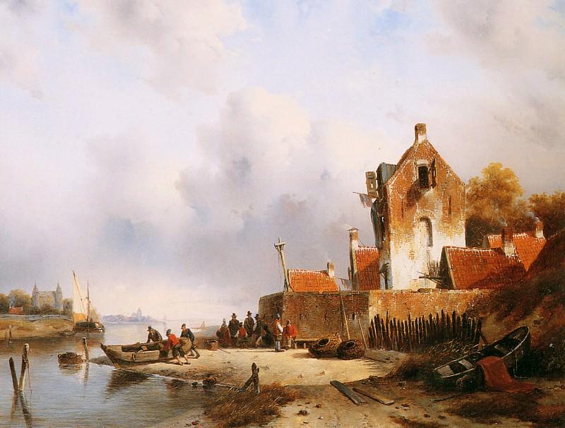 Summer river view. Charles Henri Joseph Leickert