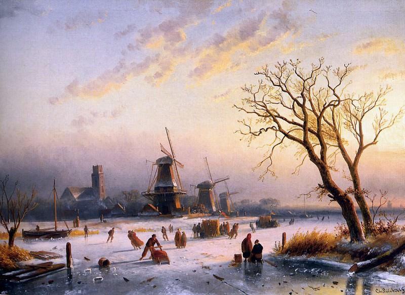 Зимний пейзаж. Шарль Анри Жозеф Лейкерт