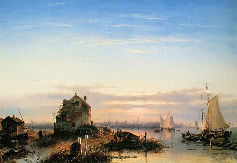 View on IJ Amsterdam. Charles Henri Joseph Leickert