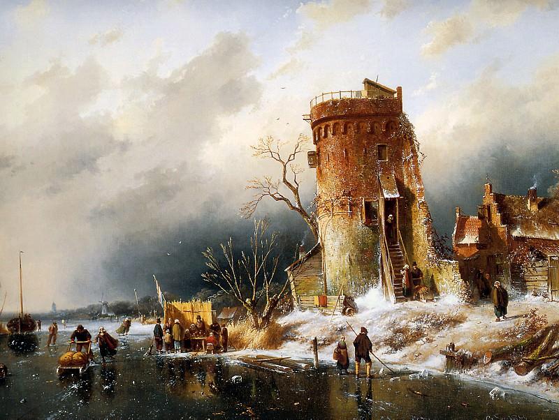 Winter Landscape. Charles Henri Joseph Leickert