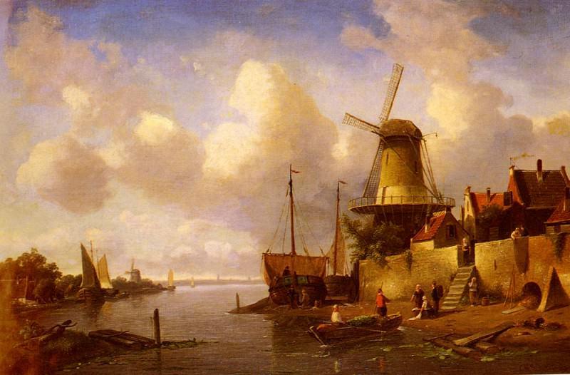 Winter And Summer Canal Scenes-Scene 2. Charles Henri Joseph Leickert