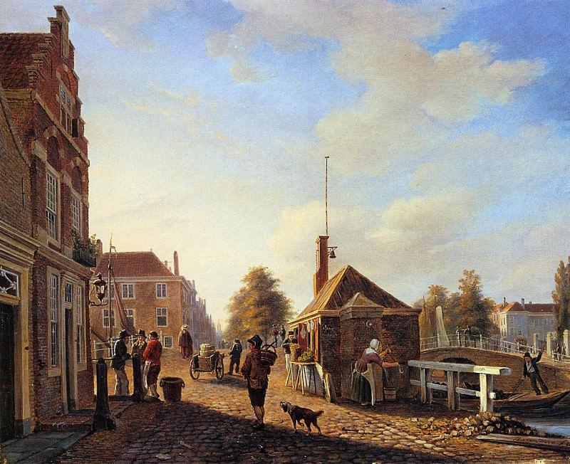 Het Spui in the Hague. Charles Henri Joseph Leickert