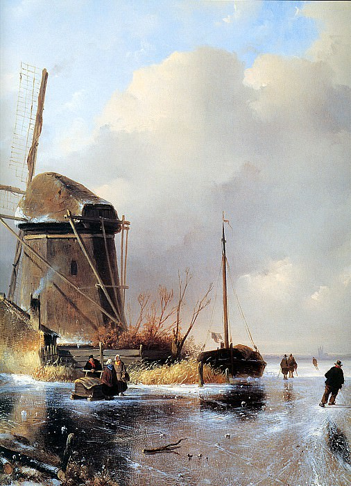 Winterlandscape. Charles Henri Joseph Leickert