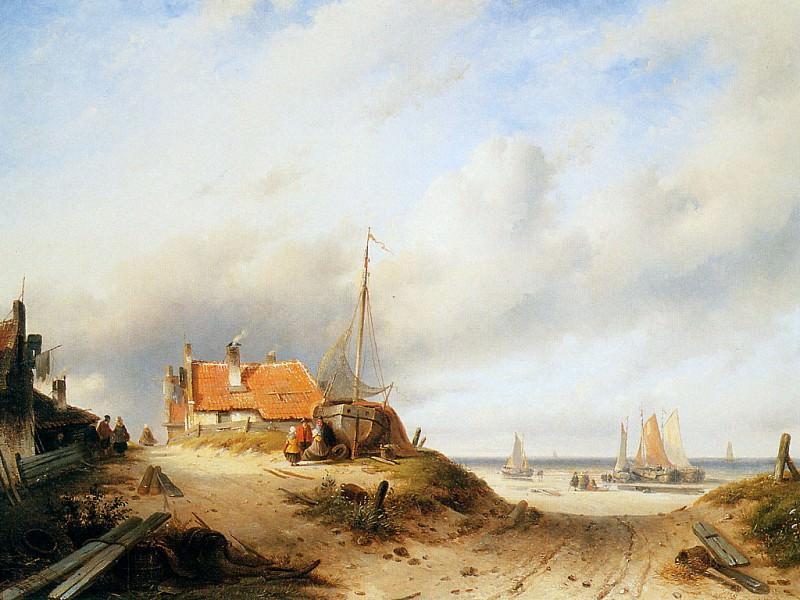 Dune scene. Charles Henri Joseph Leickert