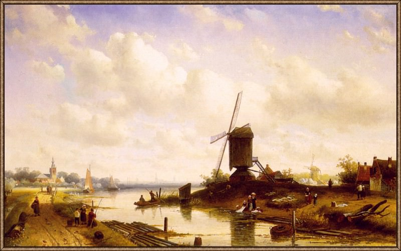 Summer-Landscape. Charles Henri Joseph Leickert